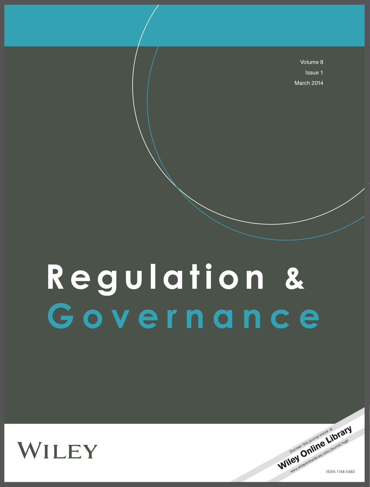 Regulations and Governance cover image
