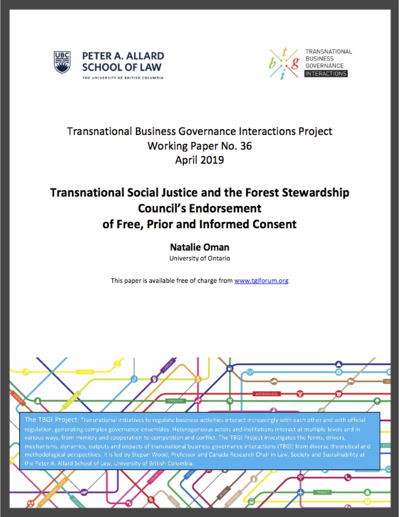 Oman (2019) Transnational Social Justice and the Forestry Stewardship Council's Endorsement of Free, Prior, and Informed Consent
